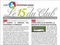 Le 15 du Club n°76